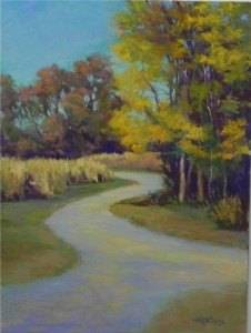 Road Through the Cornfields, 16 x 12, Pastelbord