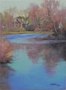 Aqua river, 16 x 12, UART 500