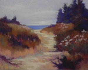 "Beach Fantasy #2, 11 x 14, Richeson ""terra cotta"" on gatorfoam"