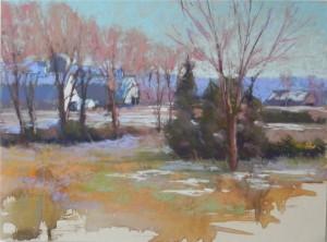 Winter Barns, 12 x 16, UART 500