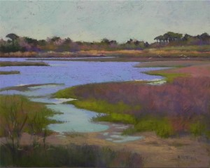 Assateague Pines Revisited, 16 x 20, pastelbord