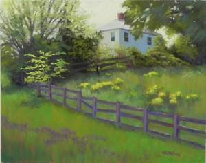 Spring Hillside, 16 x 20, Pastelbord