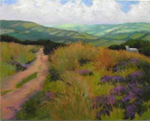 A Walk in Exmoor, 16 x 20, Pastelbord