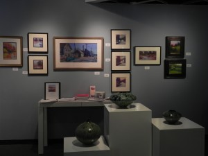 Wall display of smaller studies and The End of Main Street