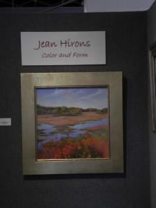 The Autumn Marsh, 20 x 20 in gold fram