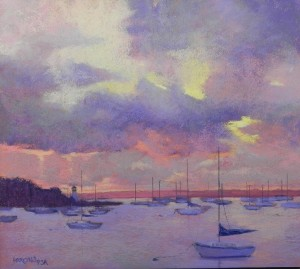 Harbor Sunrise, 18 x 20, BFK Reeves