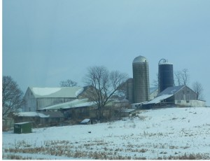 Photo of Pennsylvania Farm taken from car window