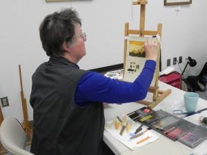 Nikki O'Neill doing color study