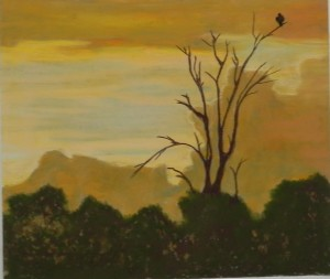 Nikki's painting of a scene from Africa