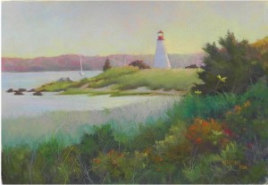Ned's Point at Sunset, 15 x 22, BFK Rives