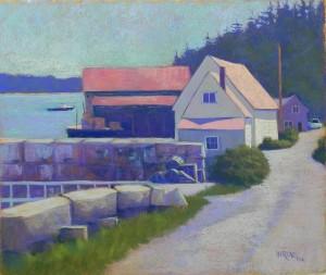 Stonington Harbor, 20 x 24, BFK Rives and AS Liquid primer