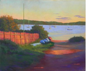 Sundown, Ship Street, 20 x 24, BFK Rives and Colourfix liquid primer