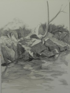 Initial graphite lay-in