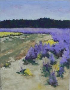 Lois Gobbi's painting on Pastelbord