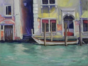 Grand Canal Houses, 12 x 16, Pastelbord