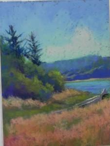 Salmon river #1, 9 x 12, Wallis Belgian mist