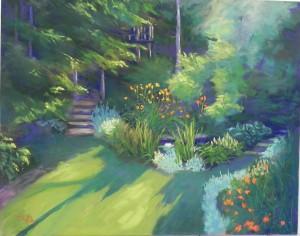 Geiser backyard, 16 x 20, pastelbord