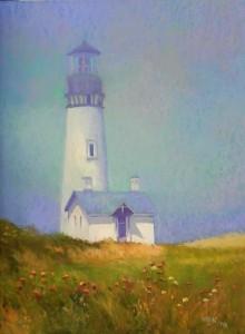 Newport Light in Fog, 24 x 18, Wallis Museum grade