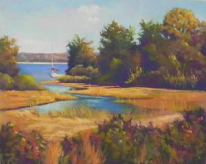 Quiet Cove, 16 x 20 Pastelbord