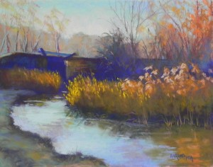 Late Day Light, C&O Canal, #2, 11 x 14, UART 400