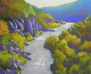 Potomac Gorge, Early October, 20 x 24, UART 400