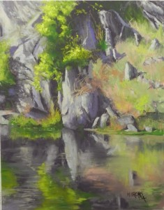 Rock Reflections, C&O Canal, 14 x 11, UART 400