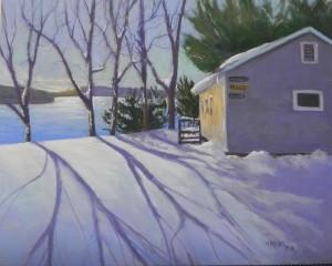 Long Shadows, for Kira Maas, 16 x 20, Pastelbord