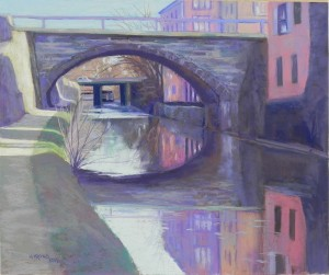 C&O Canal, Georgetown, #4, 20 x 24, Pastel premiere  400 white