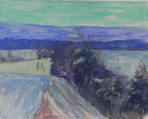 Underpainting for Farm Road in Snow