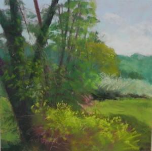 Spring Greens, 12 x 12, Pastelbord