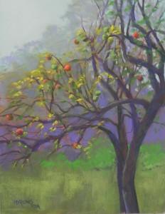 Fall Apple Tree, 16 x 12, pastelbord