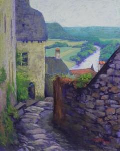 Above the Dordogne (Beynac), 16 x 20