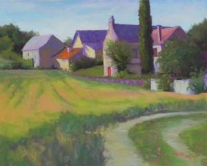 Farm Village, Perigord Noir, 16 x 20 400 UART