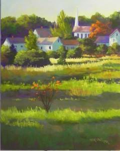 Last Light, Near Danville, 20 x 16, Pastelbord