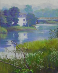 River House, 20 x 16, Pastelbord