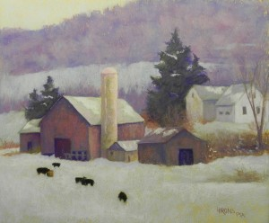 A Winter's Day, 20 x 24, Rives and Art Spectrum liquid primer