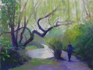 "Spring Walk in Kew, 16"" x 20"", UART 400"