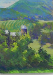 "Graves Mountain View, 16 x 12, Pastel Premiere ""Italian clay"""