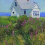 Shore House with Loosestrife