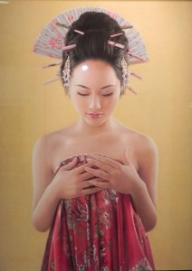 Meditacion, Award-winning painting by Aurelio Rodriguez Lopez