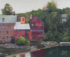 "Abandoned Mill, Springfield, VT, 20"" x 24"", pastelmat"