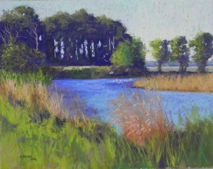 Chincoteague, #1, 16 x 20, UART 320 mounted board