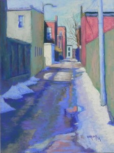 "Blue Green Alley, 16"" x 12"", UART 320"