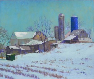 Amish Farm Revisited, 20 x 24, Pastel Premiere Italian clay