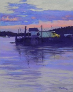 Stonington Sunset, 20 x 16, Pastel Premiere, 400 white