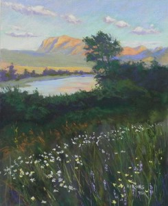 "Evening Light, Waterton Lakes, 20"" x 16"", pastelbord"