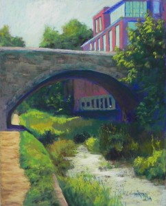 "Light Under the Bridge, Georgetown, 20"" x 16"", UART 320"