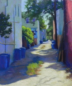 "Back Alley Shadows, 24"" x 20"", UART 320"