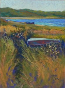 "Three Boats, Crescent Beach, 16"" x 12"", UART 320"