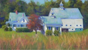 "New Hampshire Farm, 14"" x 24"", Pastel Premiere Italian clay"